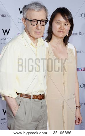 Woody Allen at the Los Angeles premiere of 'Vicky Cristina Barcelona' held at the Mann Village Theater in Westwood, USA on August 8, 2008.