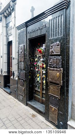 The Tomb Of Maria Eva Duarte De Peron