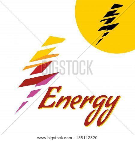 Vector illustration color Lightning. Thunder Icon. Thunder with lightning. danger light power illustration.