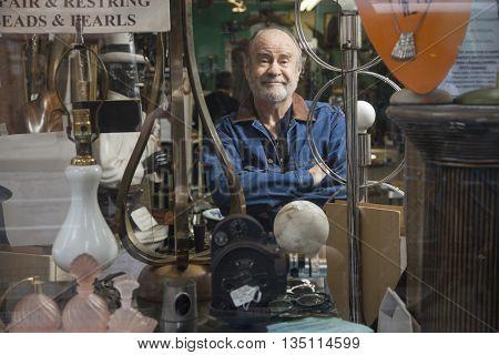 Antique store owner