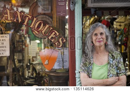 Antique store owner
