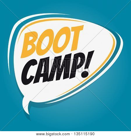 boot camp retro speech bubble