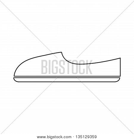 Shoe icon in outline style on a white background