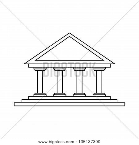 Theater icon in outline style on a white background