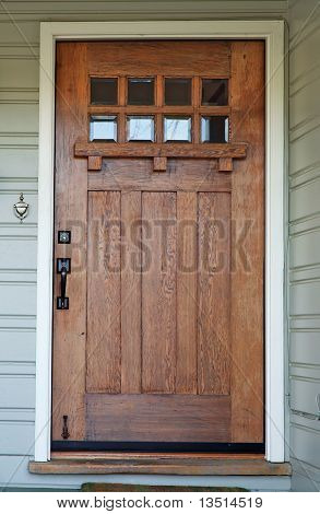 Weathered Misson Wood Door