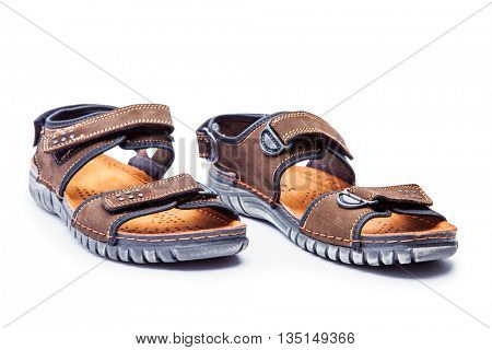 New men's fashion sandal isolated on white background