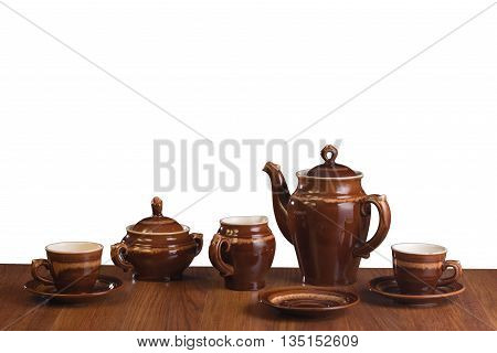 Empty isolated ware for coffee on a white background
