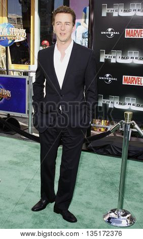 Edward Norton at the Los Angeles premiere of 'The Incredible Hulk' held at the Universal CityWalk in Hollywood, USA on June 8, 2008.