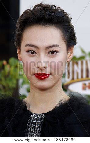 Isabella Leong at the Los Angeles premiere of 'The Mummy: Tomb Of The Dragon Emperor' held at the Gibson Amphitheatre in Hollywood, USA on July 27, 2008.