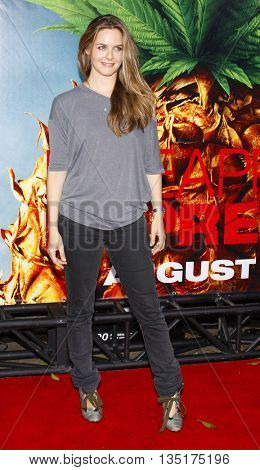 Alicia Silverstone at the World premiere of 'Pineapple Express' held at the Mann Village Theater in Westwood, USA on July 31, 2008.