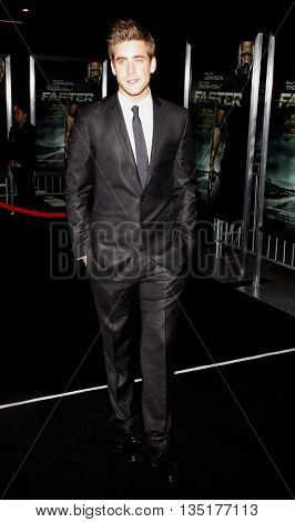 Oliver Jackson-Cohen at the Los Angeles premiere of 'Faster' held at the Grauman's Chinese Theater in Hollywood, USA on November 22, 2010.