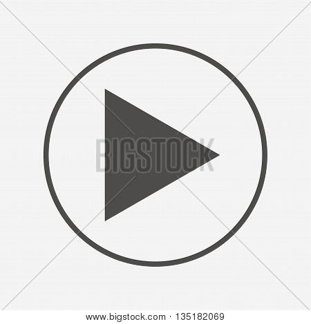 Arrow sign icon. Next button. Navigation symbol Flat arrow icon. Simple design arrow symbol. Arrow graphic element. Round button with flat arrow icon. Vector