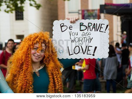 Boise, Idaho/usa - June 20, 2016: Person Dressed Up As Merida From Brave Showing That People Are Wor