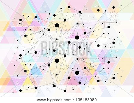 Abstract creative geometric pattern background easy editable