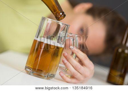 portrait of a drunken women
