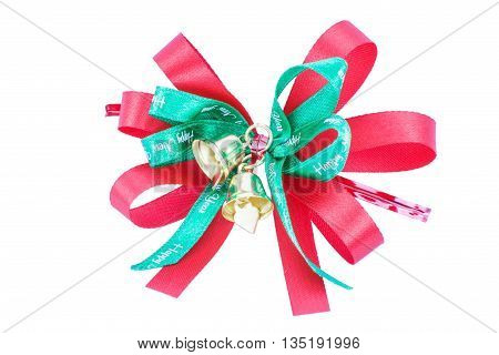 Red Bow for gift on white background