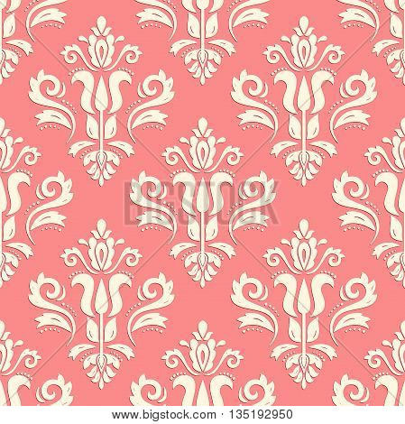 Seamless oriental ornament. Fine traditional oriental pattern with 3D elements and highlights