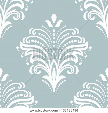 Floral ornament. Seamless abstract classic fine pattern