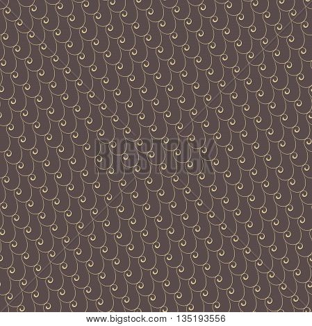 Seamless ornament. Modern geometric pattern with repeating golden waves