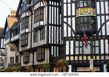LONDON, UK - OCTOBER 4, 2015: Liberty house, Regent street