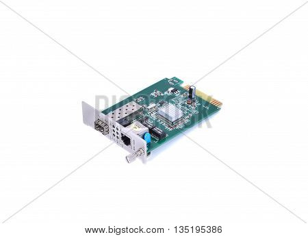 Fiber optic Media converter with metalic RJ45 connector and slot fiber Optic connector