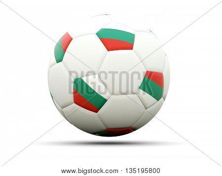 Flag Of Bulgaria On Football