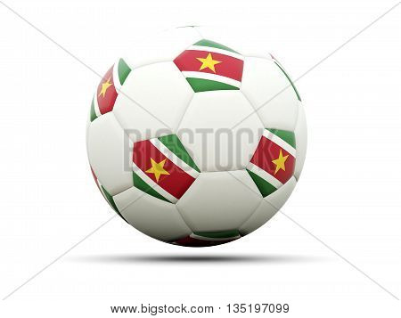 Flag Of Suriname On Football
