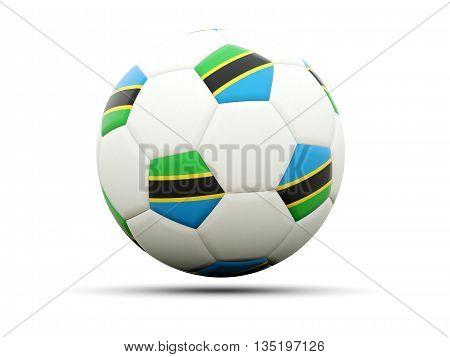 Flag Of Tanzania On Football