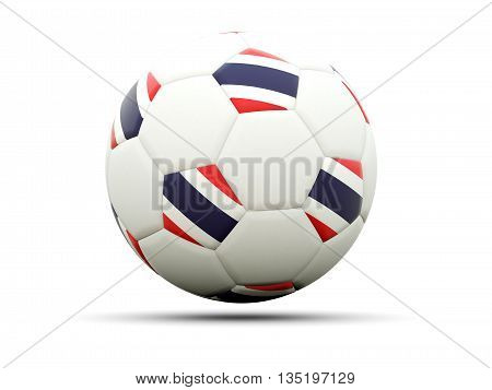 Flag Of Thailand On Football