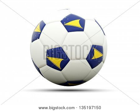 Flag Of Tokelau On Football