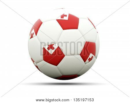 Flag Of Tonga On Football