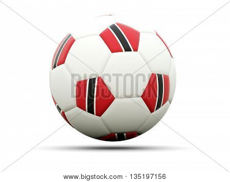 Flag Of Trinidad And Tobago On Football