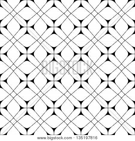 Star and square seamless pattern. Fashion graphic background design. Modern geometric stylish abstract texture. Monochrome template for prints textiles wrapping wallpaper VECTOR illustration