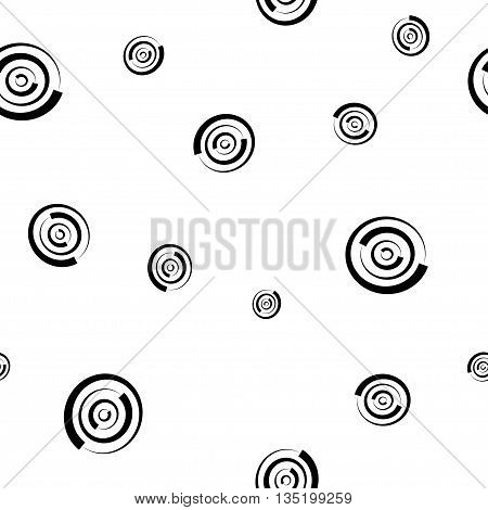 Polka dot chaotic seamless pattern. Fashion graphic background design. Modern stylish abstract monochrome texture. Template for prints textiles wrapping wallpaper website Stock VECTOR illustration
