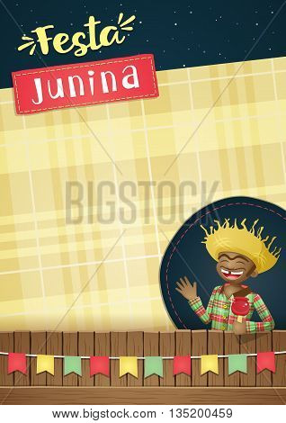 Festa Junina, brazilian june party Template or invite - A5