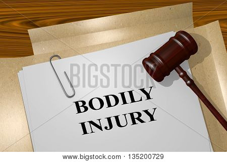 Bodily Injury Legal Concept