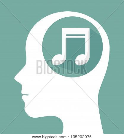 musical profile isolated icon design, vector illustration  graphic