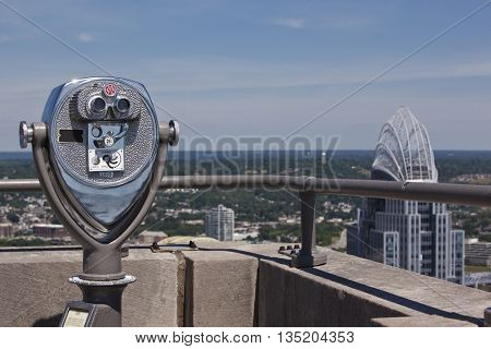 Check out the view of the Cincinnati skyline