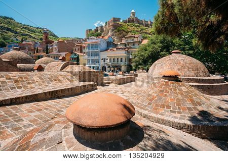 Abanotubani - Bath District - Is The Ancient District Of Tbilisi, Georgia, Known For Its Sulfuric Baths.