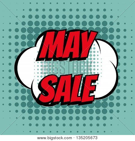May sale comic book bubble text retro style