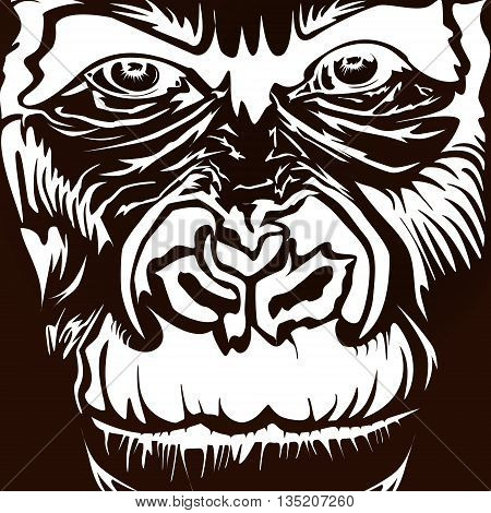 Monkey Gorilla Black Brown