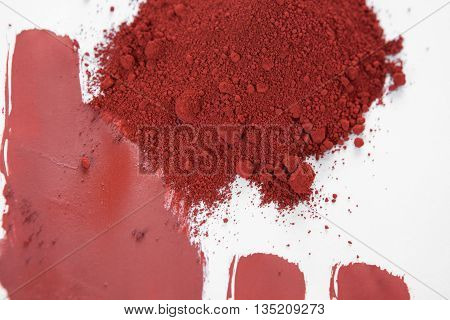 Red ochre also spelled ocher a natural red earth pigment based on hydrated iron oxide.