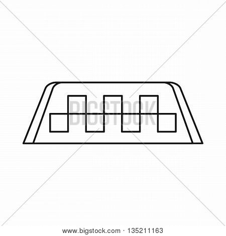Checker taxi icon in outline style isolated on white background