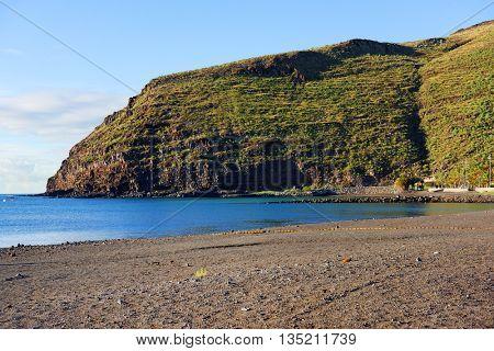 Beach of San Sebastian de la Gomera, Canary Islands, Spain