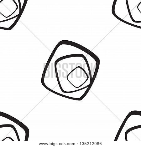 Abstract Geometric Pattern. A Seamless Background. Black And White Texture.