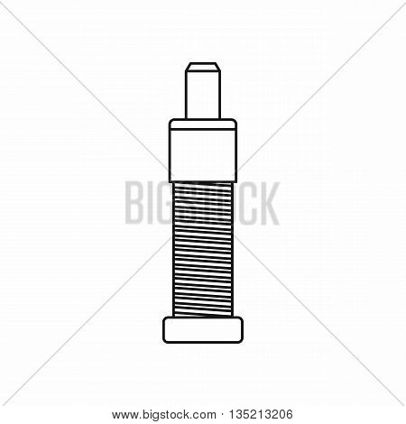 Screw and bolt icon in outline style isolated on white background