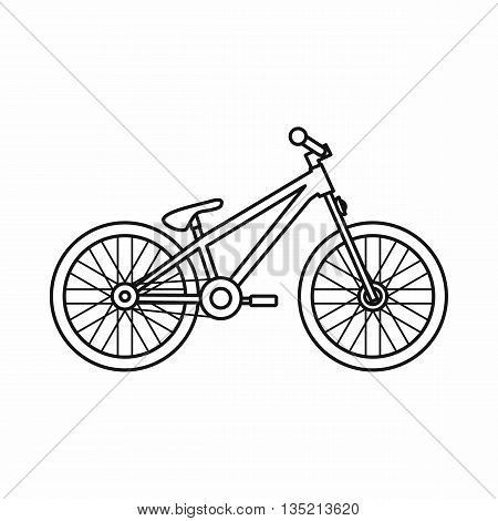 Bike icon in outline style isolated on white background