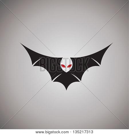 Bat logo nature logo vector design on background