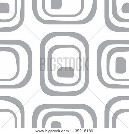 Abstract Geometric Pattern. A Seamless Background. Grey And White Texture.