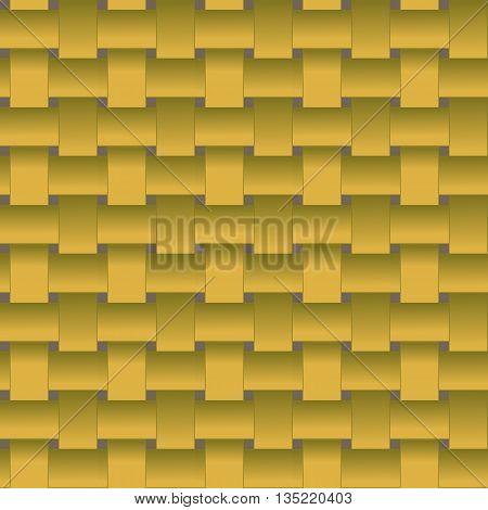 pattern weave vegetable strips in a basket